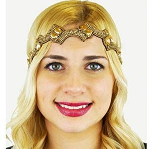 Pink Pewter Kerina Adjustable Gold Headband